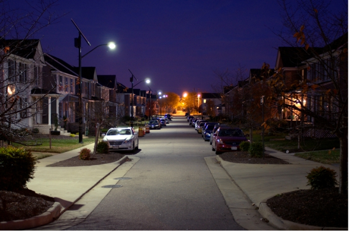 Added as an afterthought, these solar lights in Richmond cut installation costs in half for the developer.