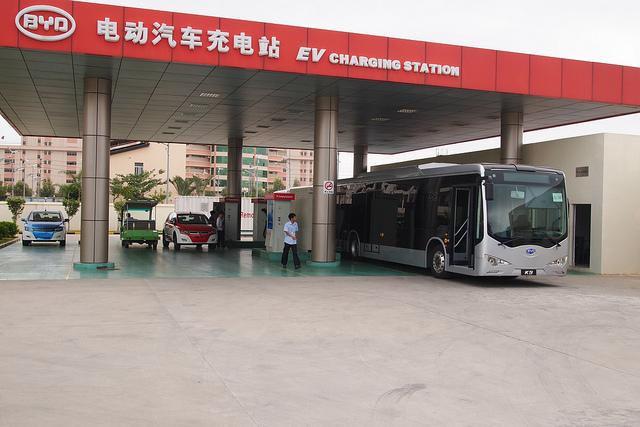 China EV charging station