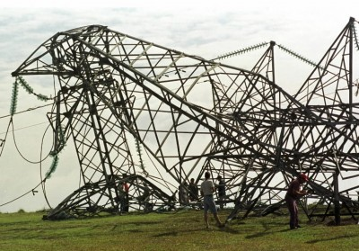 Great River Energy transmission tower failure in Minnesota, August 1, 2011