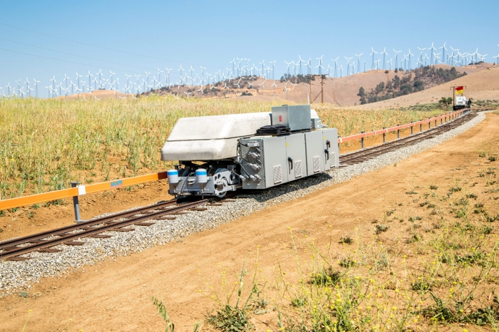 Storing energyk on rail tracks at the Tehachapi Energy Storage Project