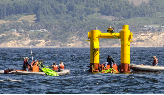 The Ocean Sentinel has been deployed off the Oregon Coast, one of the nation's first wave energy testing devices.