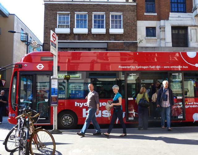 Hydrogen powered bus in London