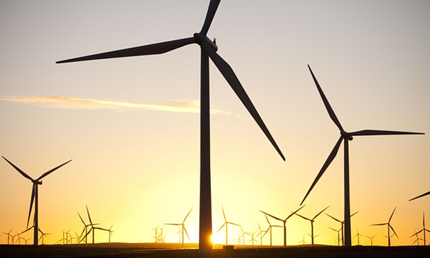 RenwableUK says there is no technical barrier to installing 55GW of wind energy by the report's date. Photograph: Global Warming Images/Rex